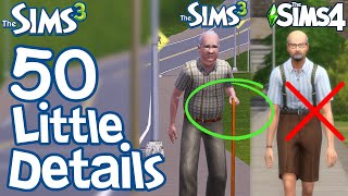The Sims 3: 50 FUN LITTLE DETAILS not in Sims 2 & Sims 4