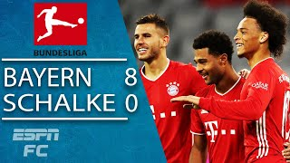 Serge Gnabry scores HAT TRICK & Lewandowski shines in Bayern's HUGE win vs. Schalke | ESPN FC