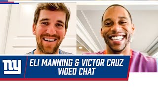 Eli Manning Reveals How Retirement Life is Treating Him | Eli Manning Video Chats with Victor Cruz