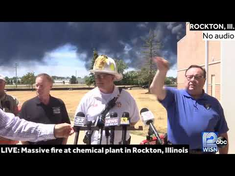LIVE: Massive fire burning at chemical plant in Rockton, Illinois
