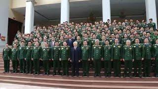 Tổng Bí thư Nguyễn Phú Trọng thăm, làm việc, chúc Tết Bộ Tư lệnh Bộ đội Biên phòng