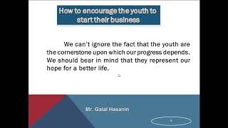 Paragraph about the youth and work براجراف عن الشباب والعمل