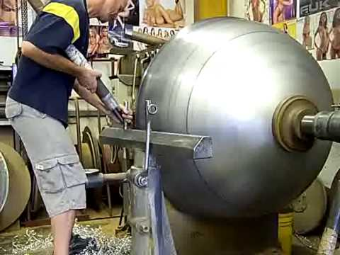 Metal Spinning 1250mm Dome Spinning Part 5 Youtube