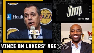 It warms my heart! Vince Carter reacts to Frank Vogel's comments on Lakers' age | The Jump