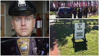 Thousands pay tribute at fallen Weymouth officer's funeral
