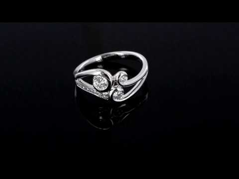 Browns Family Jewellers Platinum Fancy Diamond Ring