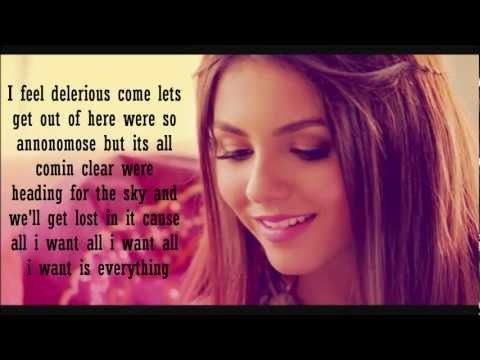 Baixar Victoria Justice - All I Want Is Everything Lyrics