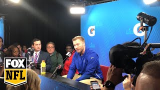 Sean McVay shows class, explains Todd Gurley's lack of touches after Super Bowl LIII loss | FOX NFL
