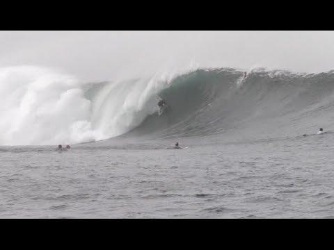Huge Outer Reef Surf Nicaragua 2014