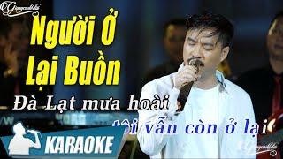 Người Ở Lại Buồn Karaoke Quang Lập (Tone Nam)   Nhạc Vàng Bolero Karaoke