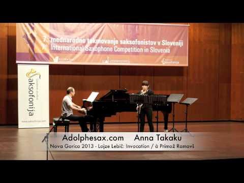 Anna Takaku - Nova Gorica 2013 - Lojze Lebič: Invocation / à Primož Ramovš