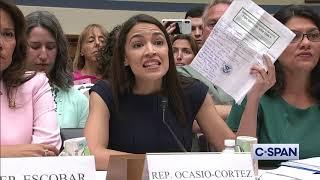 """Representative Alexandria Ocasio-Cortez: """"I believe these women."""" (C-SPAN)"""