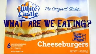 White Castle Cheeseburger Sliders Vs. Generic Sliders - WHAT ARE WE EATING?? - The Wolfe Pit