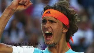 Alexander Zverev Racquet Breaking Compilation