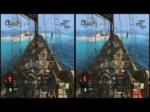 YT3D - Assassins Creed IV 3D: Black Flag Very High Settings S8M2 Walkthrough Live Stream Part 15