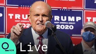 LIVE: Rudy Giuliani and Trump Campaign Officials Hold News Conference at the RNC