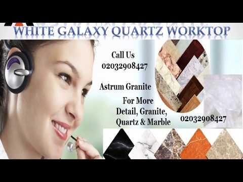 Best White Galaxy Quartz Kitchen Worktop in London UK - Astrum Granite
