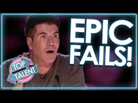 Auditions Gone WRONG! EPIC FAIL Compilation!   Top Talent