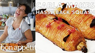 Carla Makes Hasselback Butternut Squash | From the Test Kitchen | Bon Appétit