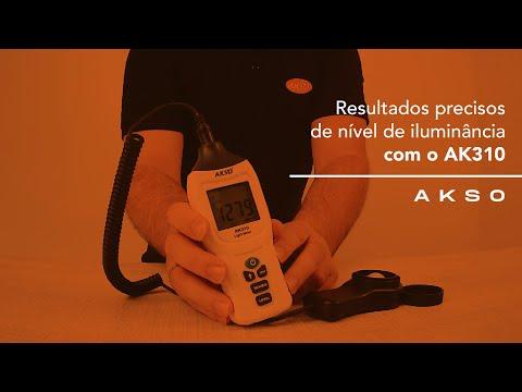 Resultados precisos de nível de iluminância com o AK310