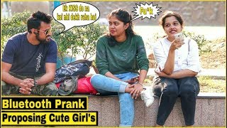 Bluetooth Prank Proposing Cute Girl's - Epic Reactions - Pranks In India| By TCI