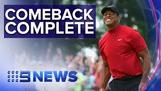Tiger Woods wins 2019 Masters | Nine News Australia