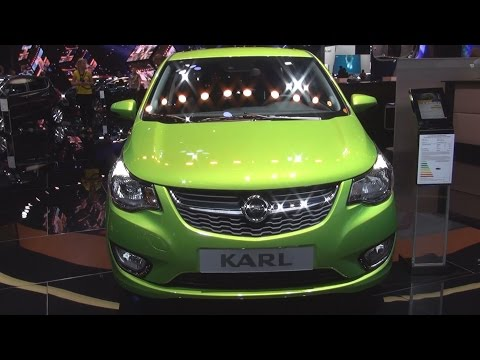Opel Karl Exclusive 1.0 ECOTEC 55 kW Fresh Green (2016) Exterior and Interior in 3D