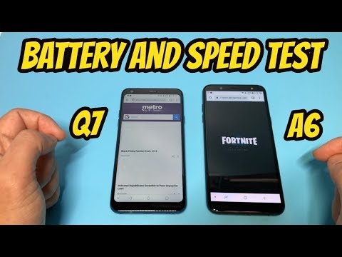 LG Q7 vs Samsung A6 Battery and Speed Test
