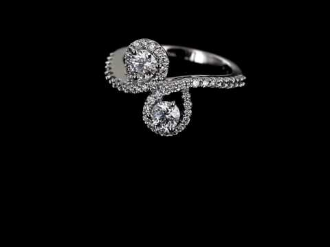 Browns Family Jewellers Diamond Cluster Twist Ring