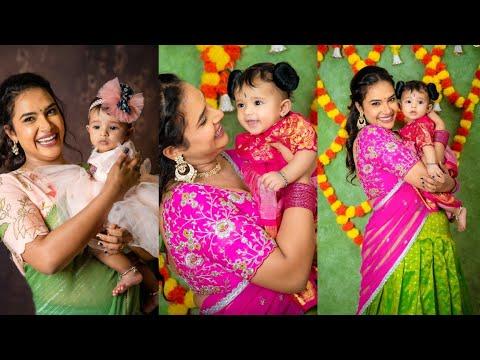 Bigg Boss fame Hari Teja's cute moments with her daughter, viral pics