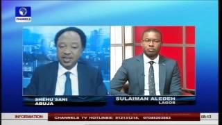 Senator Shehu Sani Explains The Rift In APC (PT4) 24/06/15
