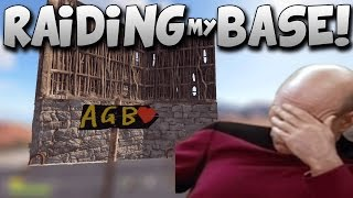 RAIDING MY OWN BASE! Rust Solo Survival Gameplay #24