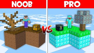 Minecraft NOOB vs PRO vs GOD: NOOB SKYBLOCK vs PRO SKYBLOCK BATTLE! (Animation)