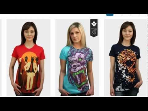 Imba-Shopping.com: Интернет магазин футболок DesignByHumans.com