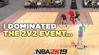 I dominated the 2v2 event with my pure shot creator in NBA2K19...