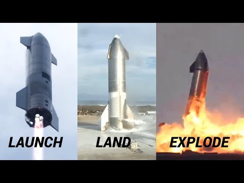 SpaceX's Starship SN10 Successful Landing & Explosion After Launch Abort