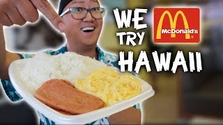 WE TRY McDonalds HAWAII