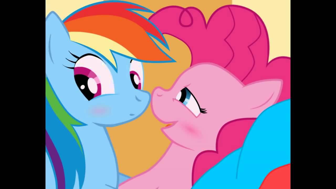 pinkie pie and rainbow dash heaven hen you kiss me - YouTube