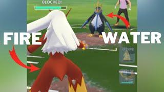 Triple FIRE Team (feat.Shiny Ho-Oh) VS Empoleon Team in Pokemon Go Battle League