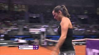 Agnieszka Radwanska (POL) vs Roberta Vinci (ITA) 24 April 2014 - Porsche Tennis Grand Prix