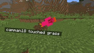 Minecraft, But You Can't Touch Grass...