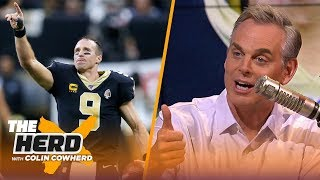 Colin Cowherd on Drew Brees' record setting night, Freddie Kitchens' job security | NFL | THE HERD