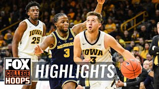 Iowa snaps losing skid with huge upset of No. 5 Michigan | FOX COLLEGE HOOPS HIGHLIGHTS