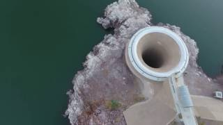 Owyhee Reservoir Glory Hole- Spillway DJI Phantom 4 Drone Video 12/12/2016