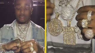 Migos Quavo Shows Off $700K In Jewelry