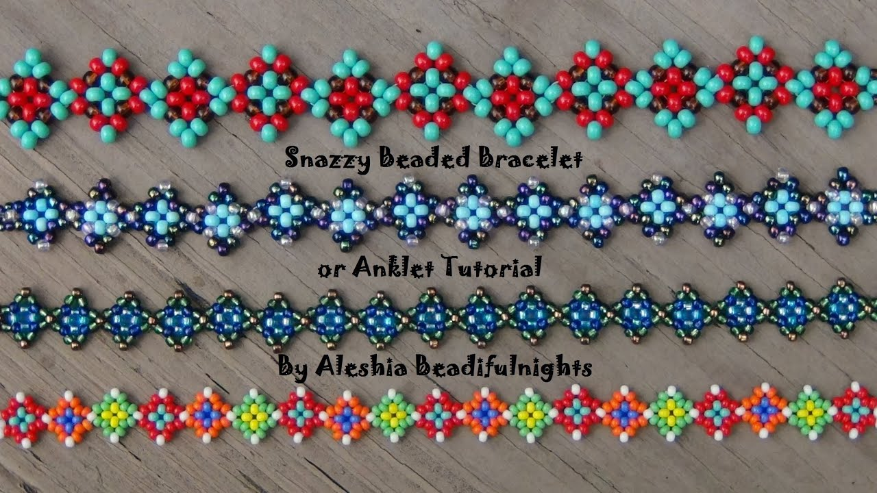 Snazzy Beaded Bracelet Or Anklet Tutorial Youtube