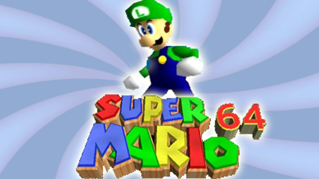 Luigi in Super Mario 64 [GAME SPECULATION] - YouTube