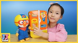 꼬마 캐리 와 얼음이 나오는 뽀로로 말하는 아기 냉장고 장난감 놀이 Pororo Toy&Play [제이제이튜브 - JJ tube]