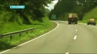 Vídeo: PRF persegue caminhoneiro que dirigia sob efeito de drogas