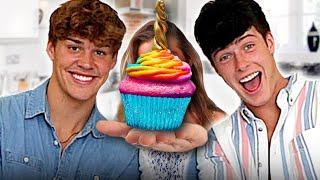 Noah Beck & Blake Gray Reveal their Tik Tok Crush While Attempting to Bake Cupcakes   Dish This